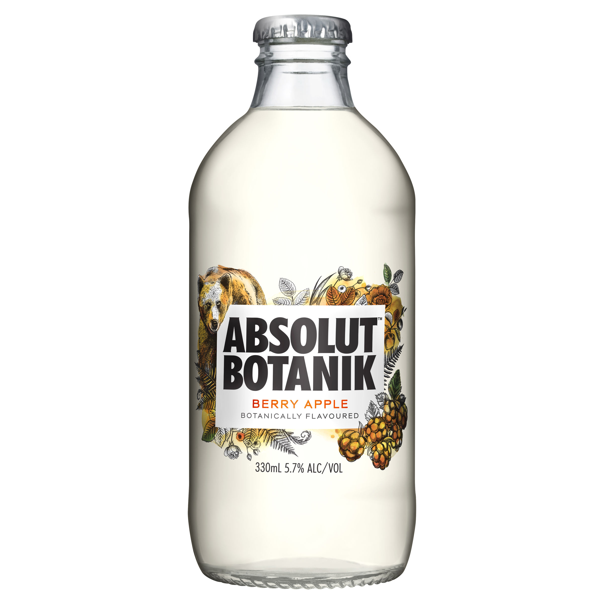 ABSOLUT BERRY APPLE BOTTLE