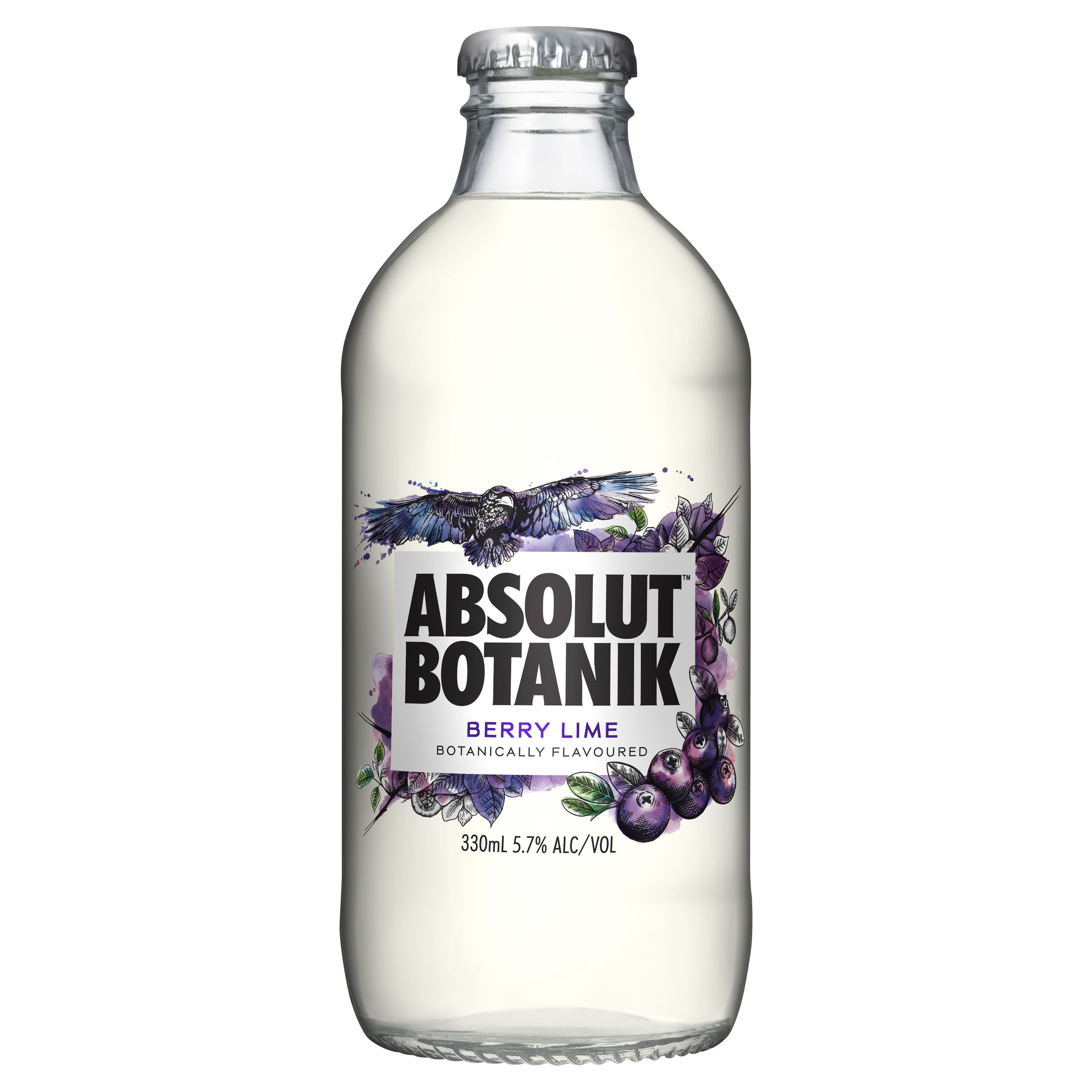 ABSOLUT BERRY LIME BOTTLE