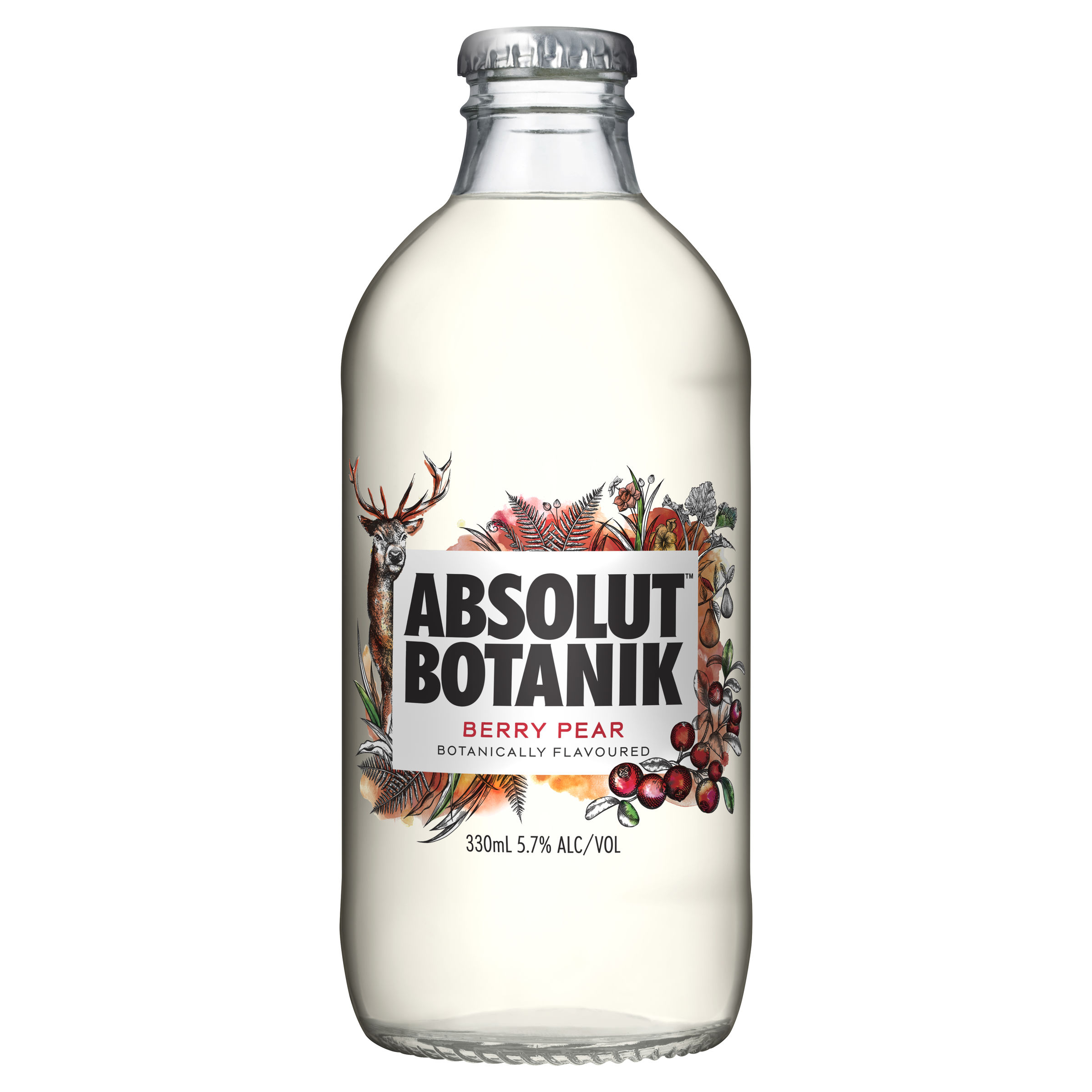 ABSOLUT BERRY PEAR BOTTLE