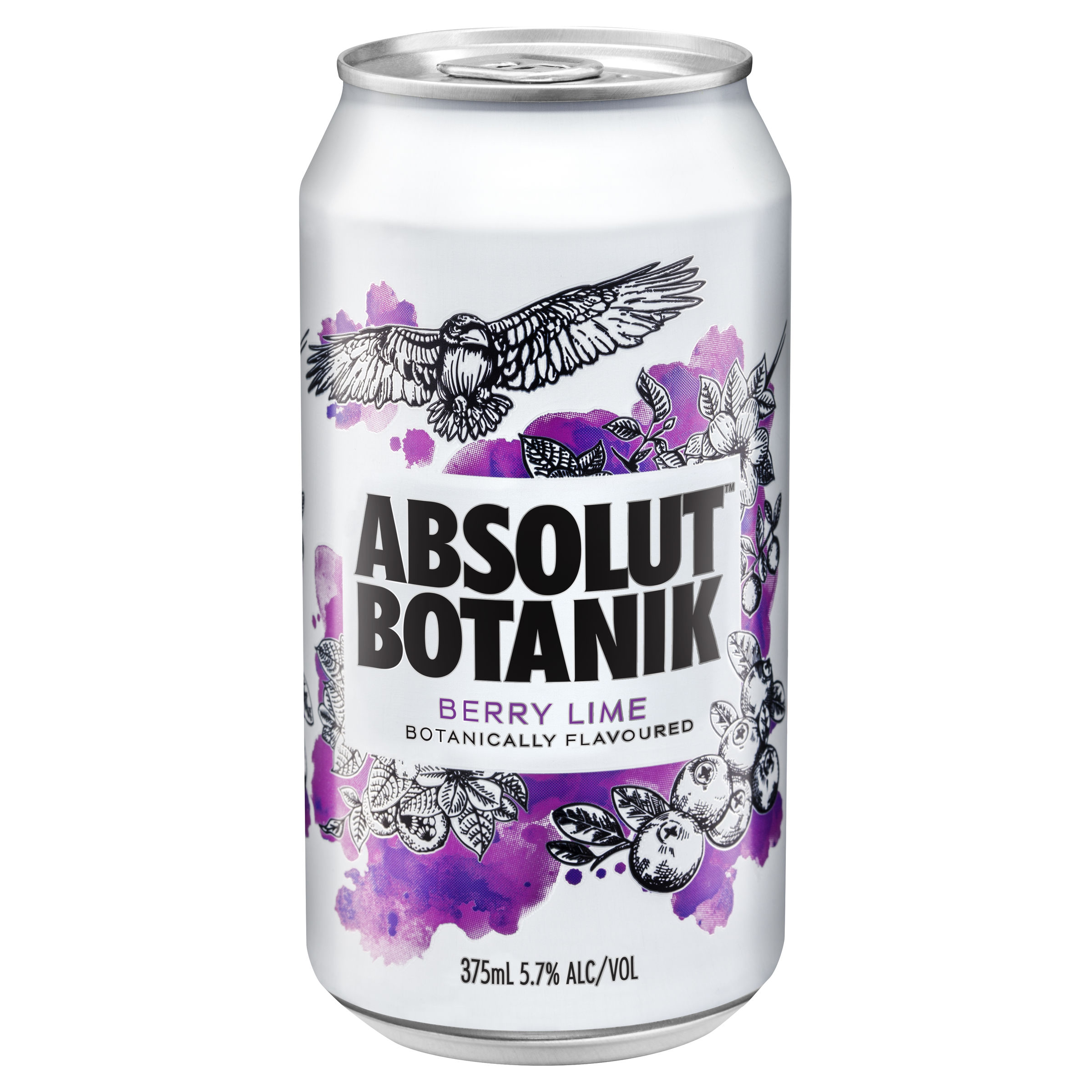 ABSOLUT BERRY LIME CAN