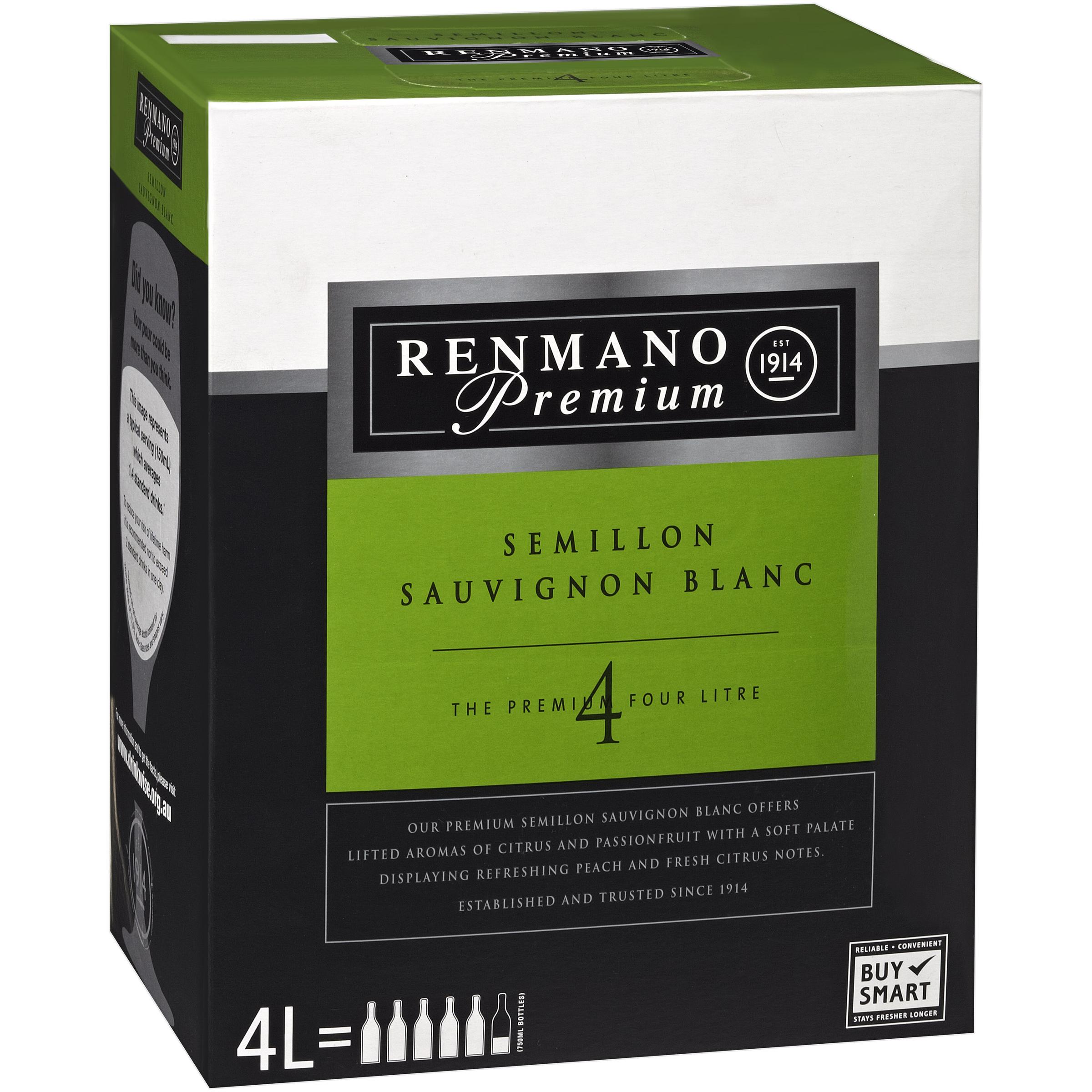 RENMANO PREMIUM SEMILLON SAUVIGNON BLANC CHARDONNAY