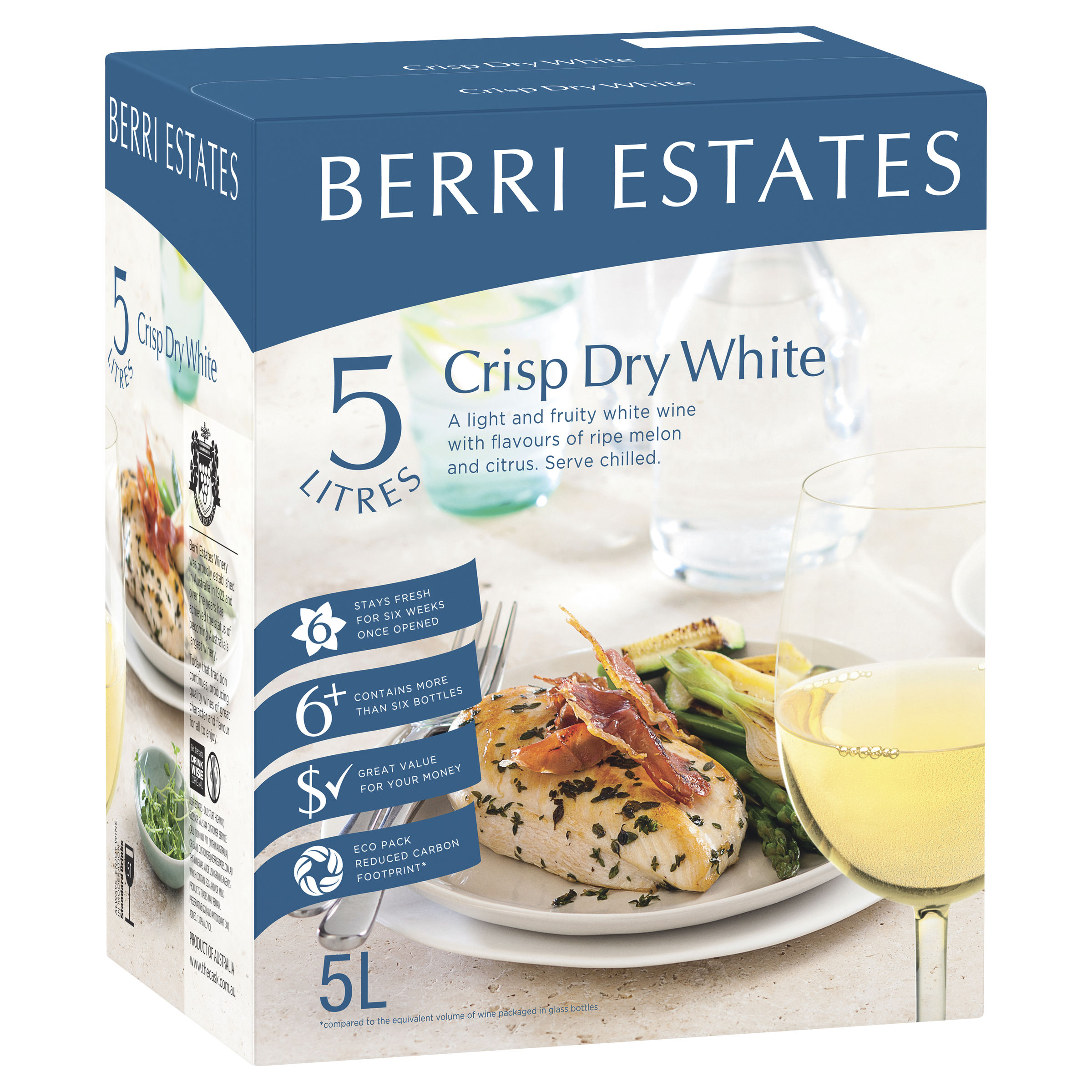 BERRI ESTATES CRISP DRY WHITE CHABLIS