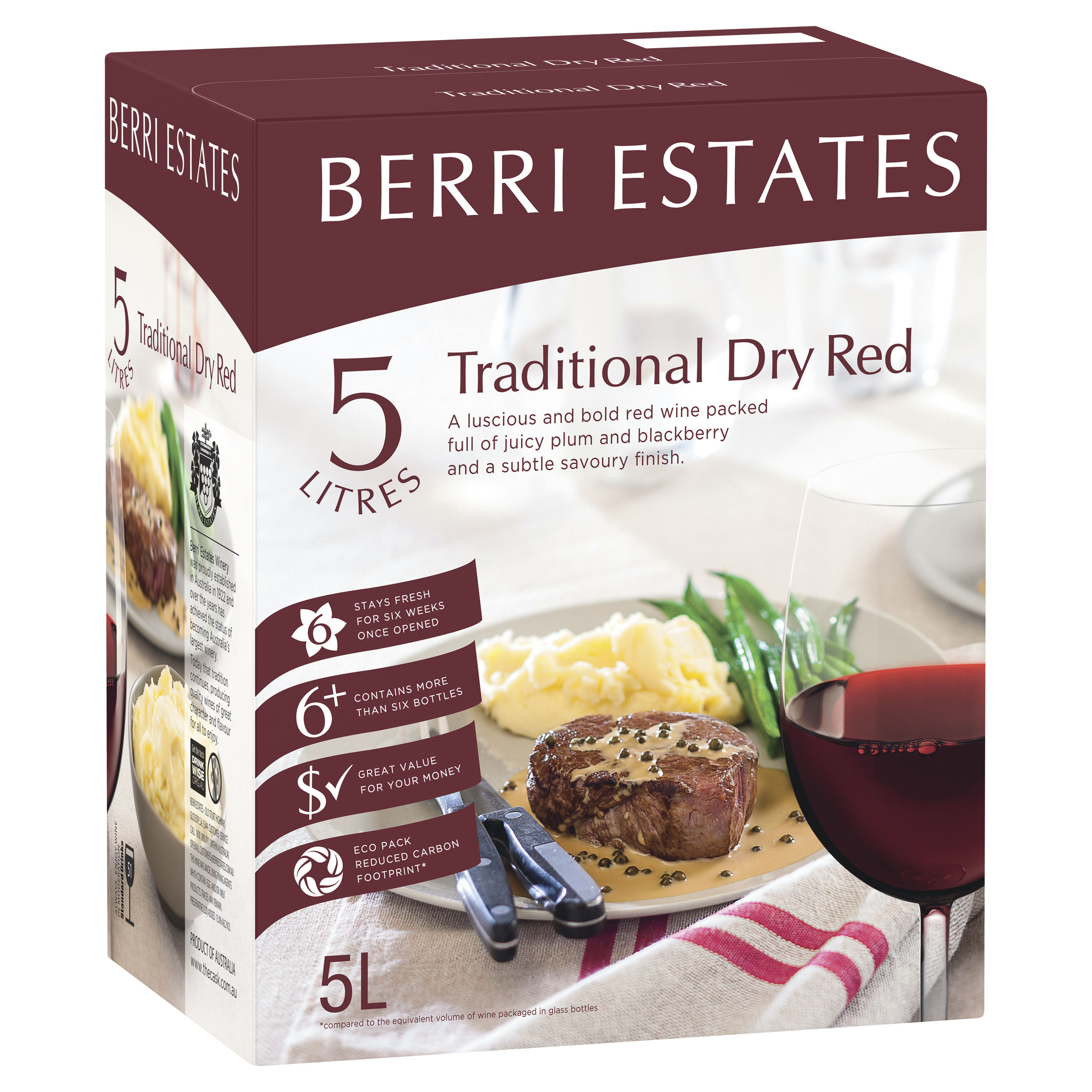 BERRI ESTATES TRADITIONAL DRY RED CLARET