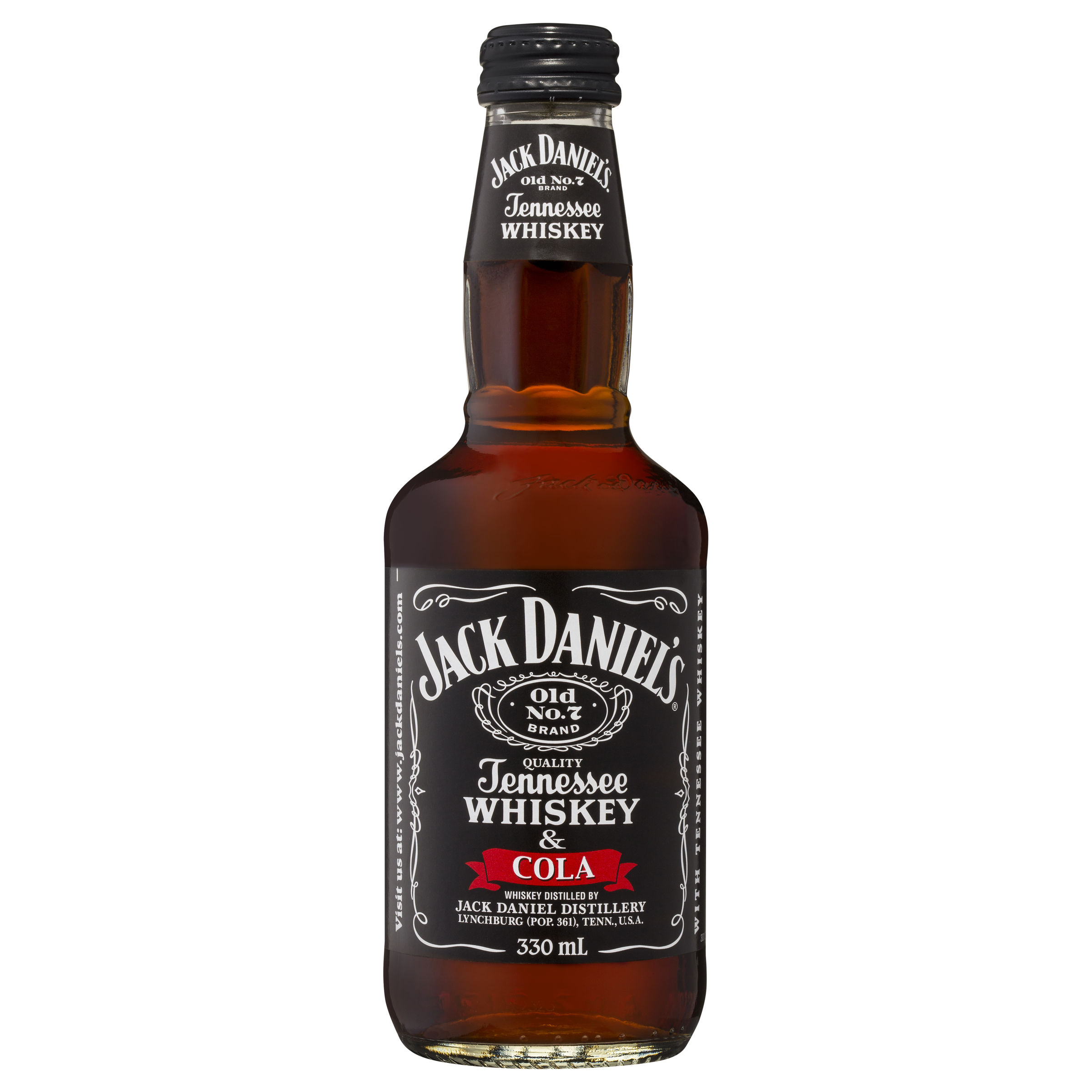 JACK DANIELS TENNESSEE WHISKEY & COLA BOTTLE