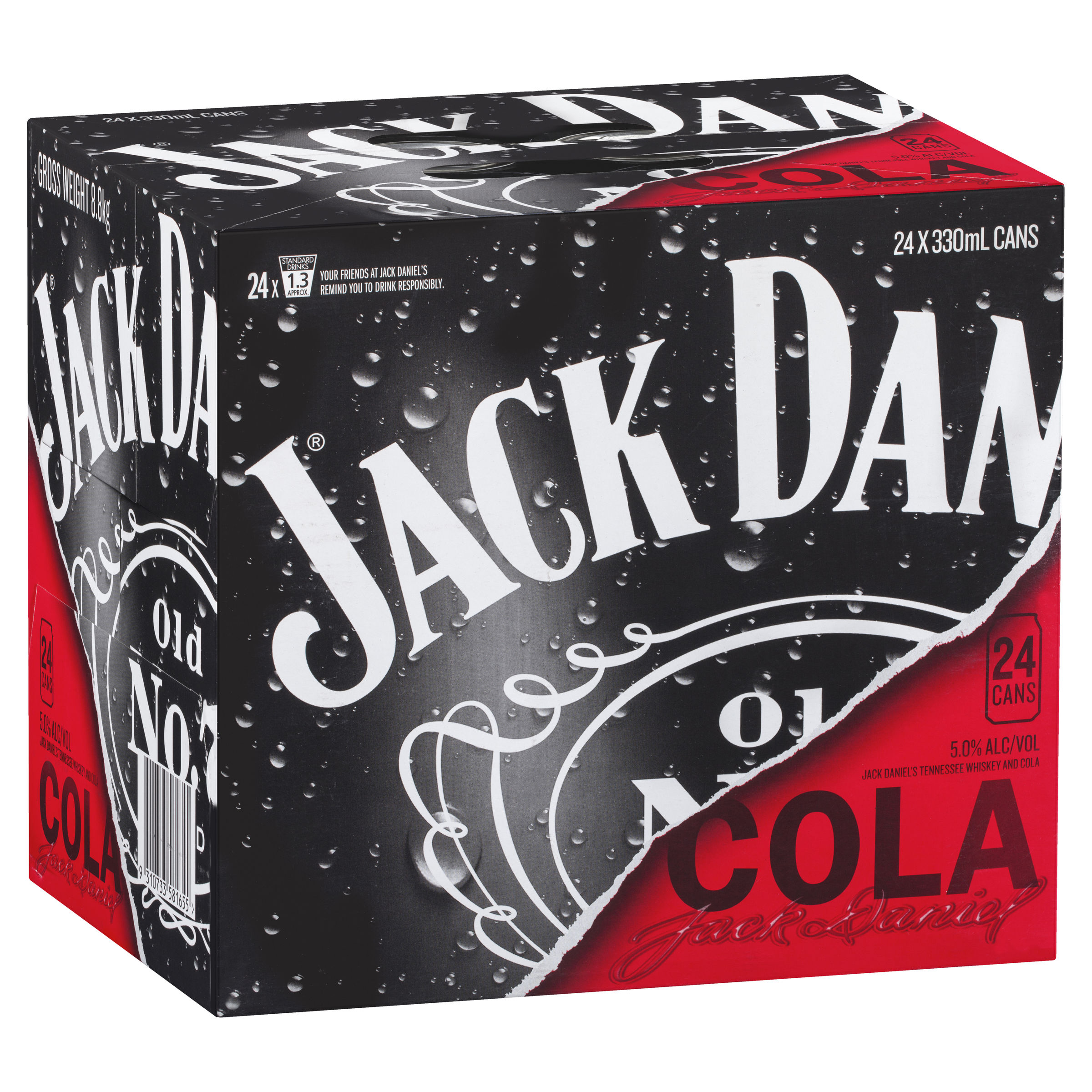 JACK DANIELS TENNESSEE WHISKEY & COLA CUBE