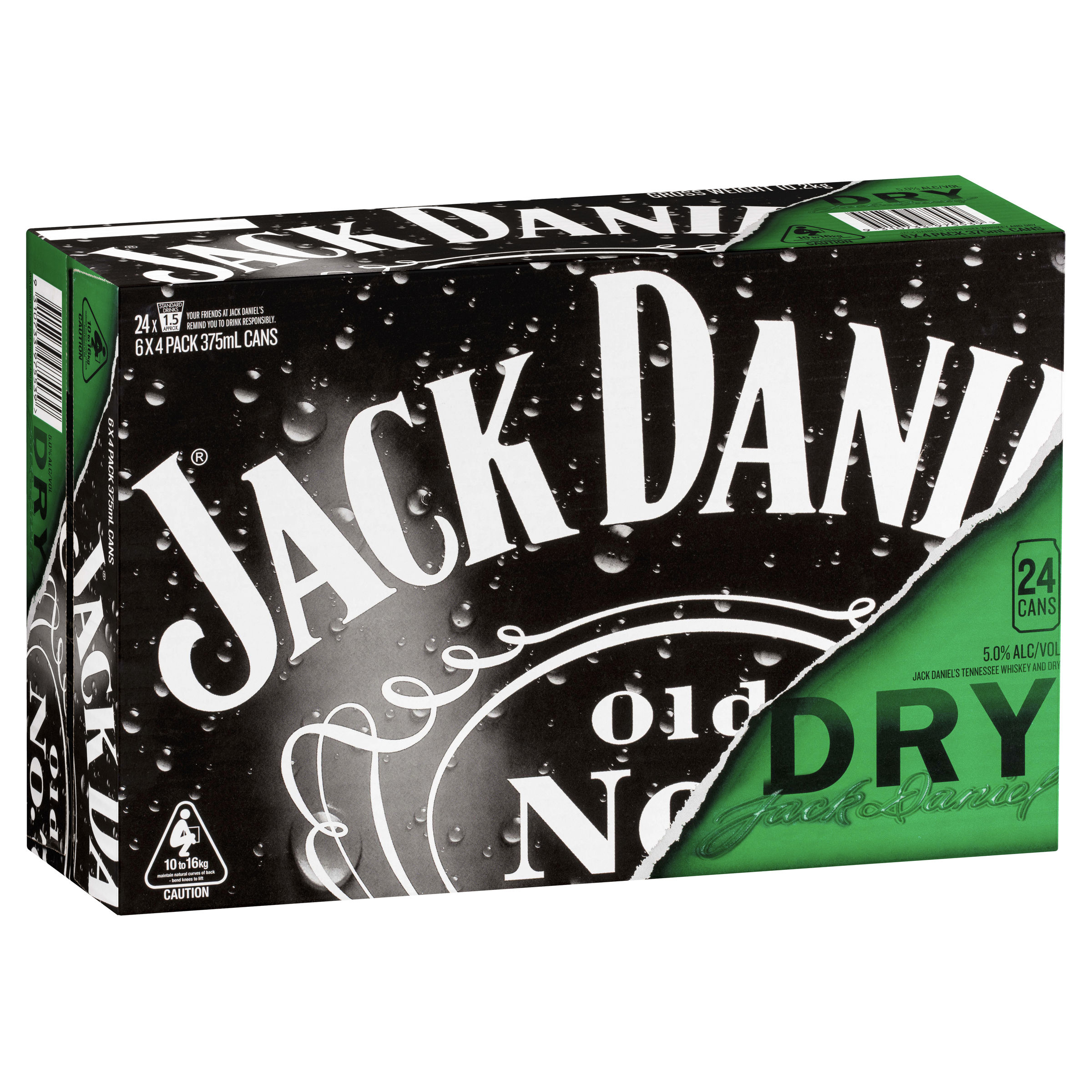 JACK DANIELS TENNESSEE WHISKEY & DRY CAN