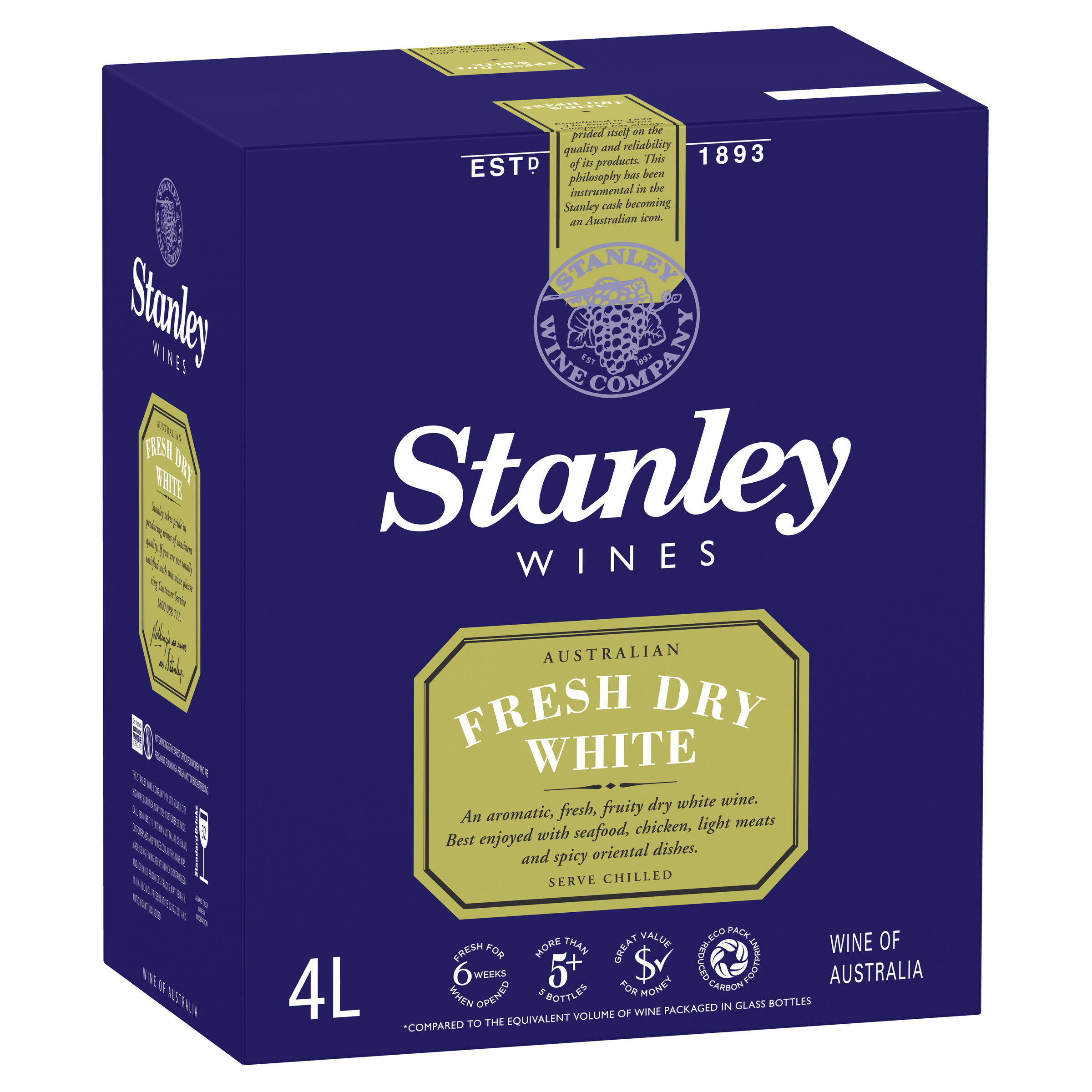 STANLEY FRESH DRY WHITE RIESLING
