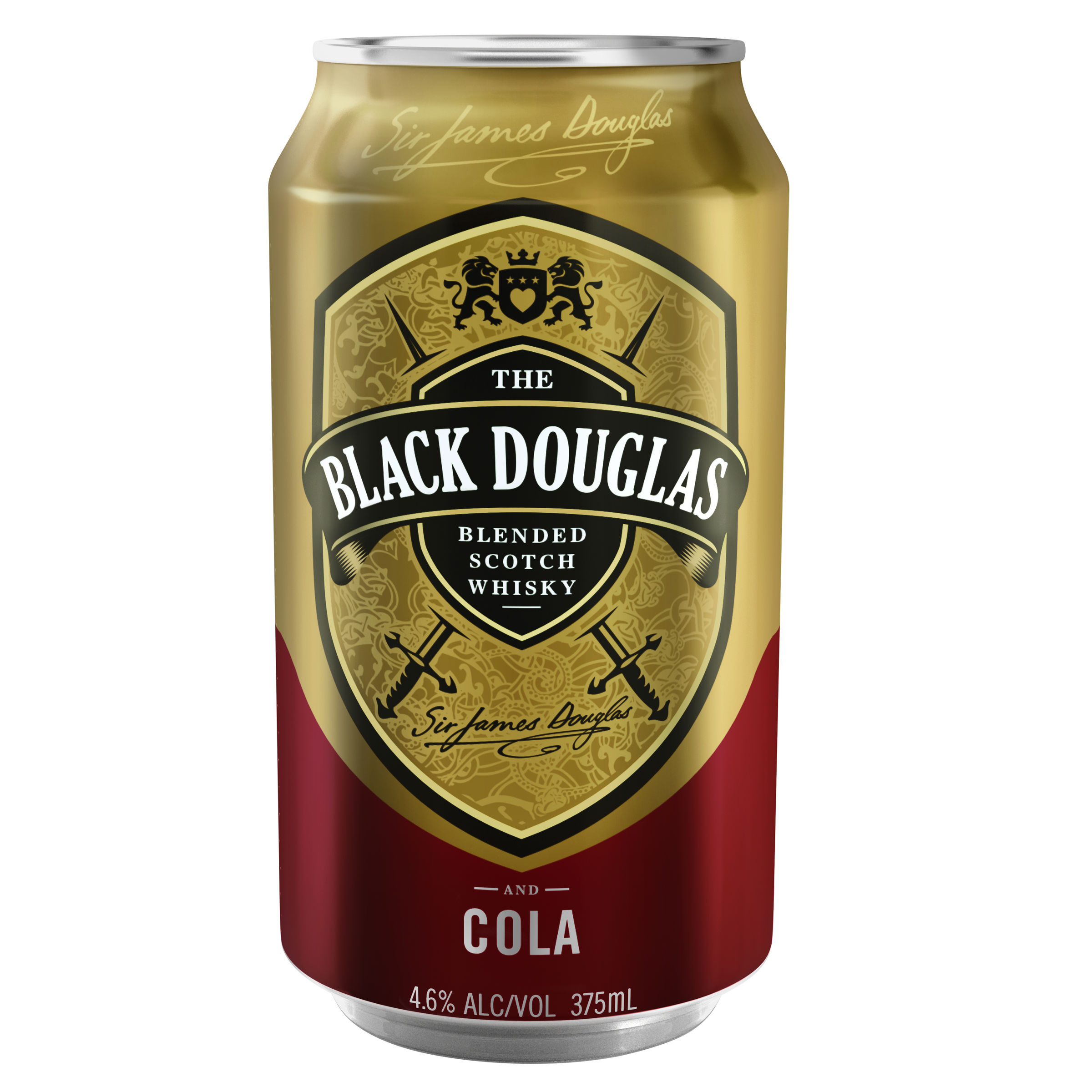 BLACK DOUGLAS & COLA CAN