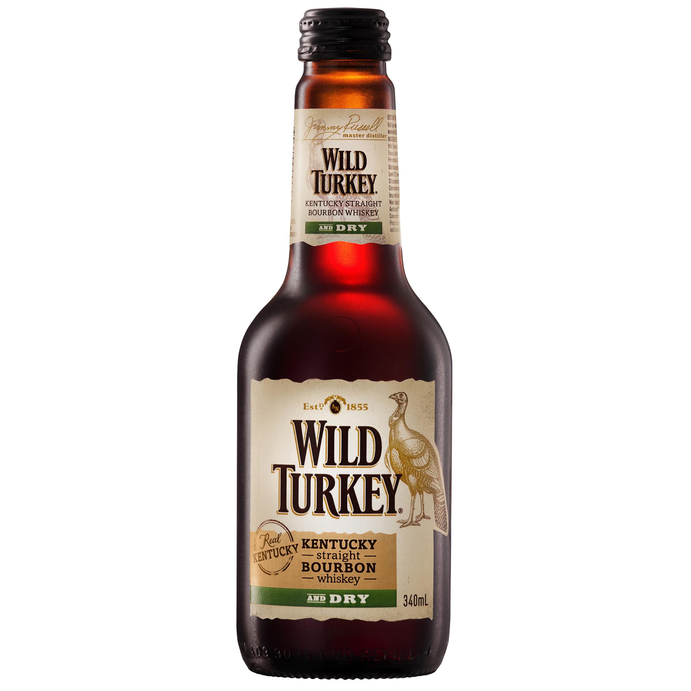 WILD TURKEY & DRY BOTTLE