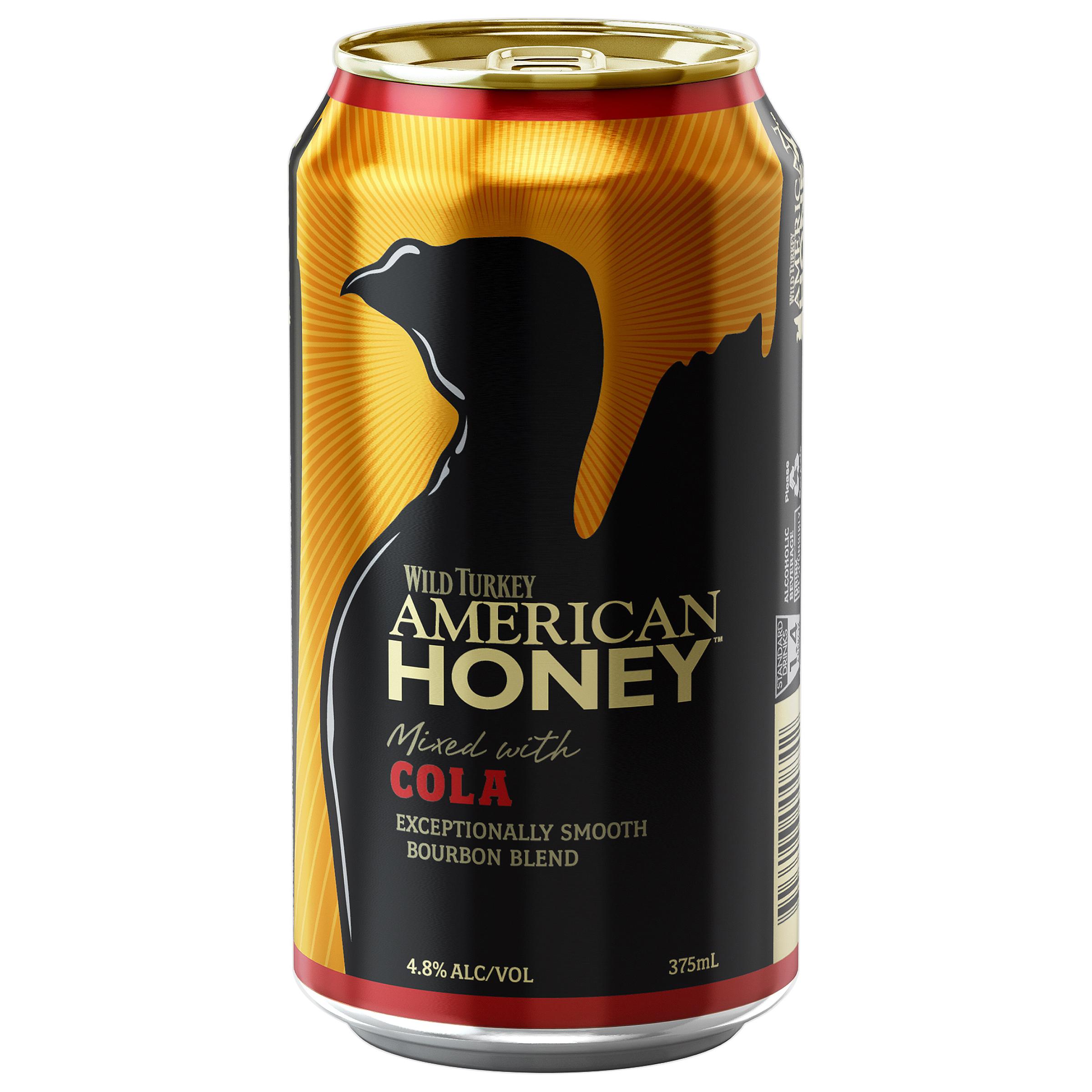 WILD TURKEY AMERICAN HONEY LIQUEUR & COLA CANS