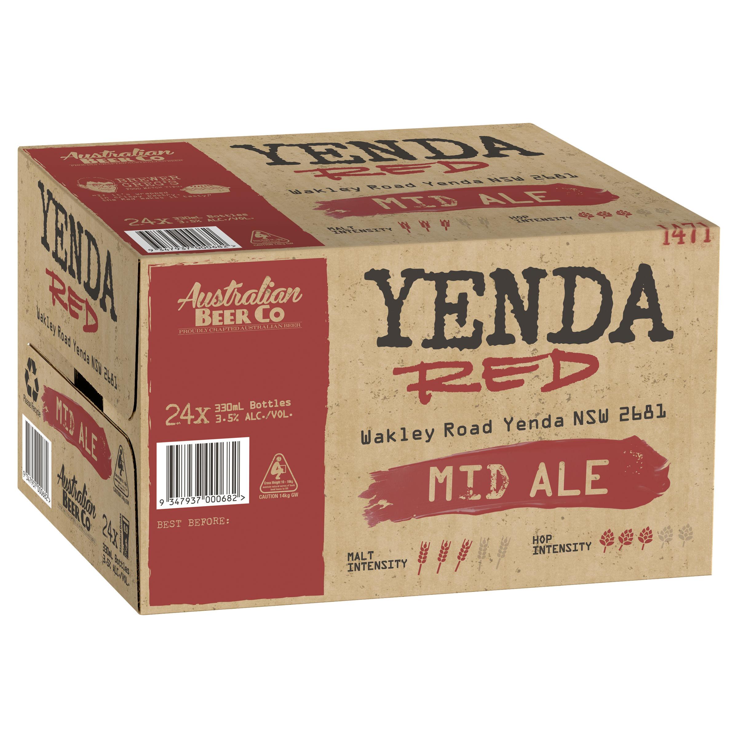 AUSTRALIAN BEER COMPANY YENDA RED MID