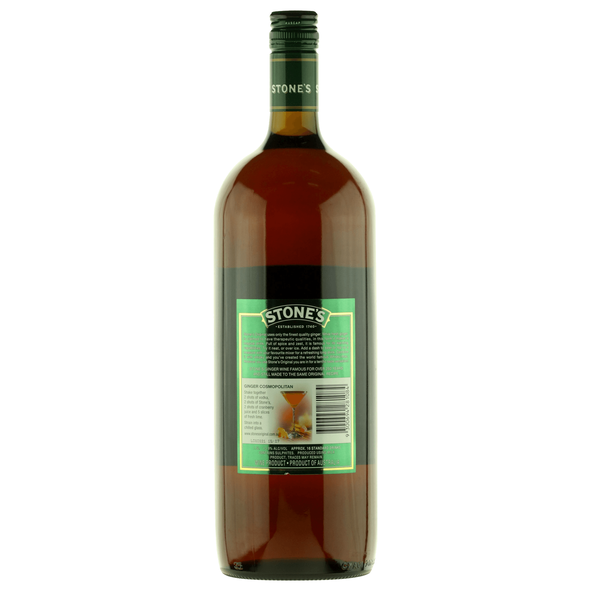 It is a picture of Adorable Stones Ginger Wine Red Label