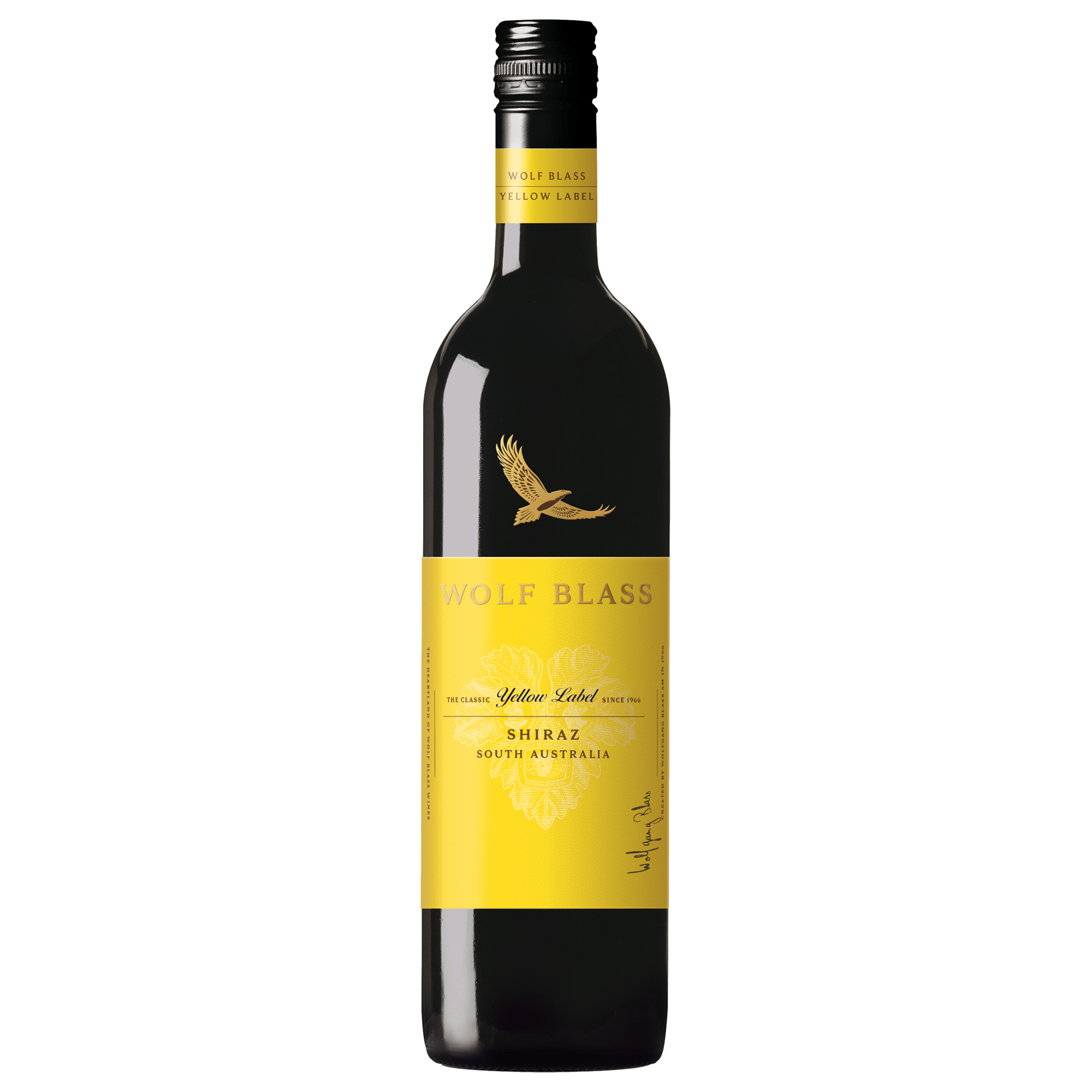 It is a picture of Légend Wolf Blass Red Label Shiraz 2020
