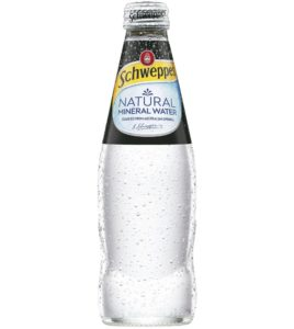 SCHWEPPES 4PK MIN WATER GLASS