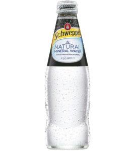 SCHWEPPES 4PK MIN WATER GLASS