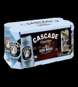 CASCADE SODA WATER CANS 3X8PK