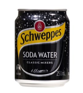 SCHWEPPES SODA WATER CANS 24PK