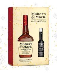 MAKER'S MARK BOURBON 700ML WITH A BONUS BOTTLE OF BITTERS 125ML