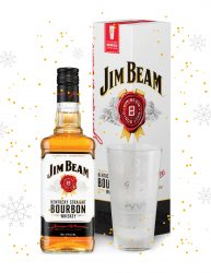 JIM BEAM WHITE BOURBON 700ML WITH A BONUS BRANDED TUMBLER